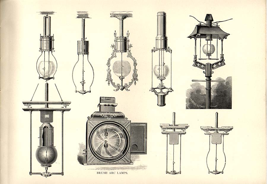 How Much Is An Electric Bill >> Brush Arc Lamps « ElectricMuseum.com