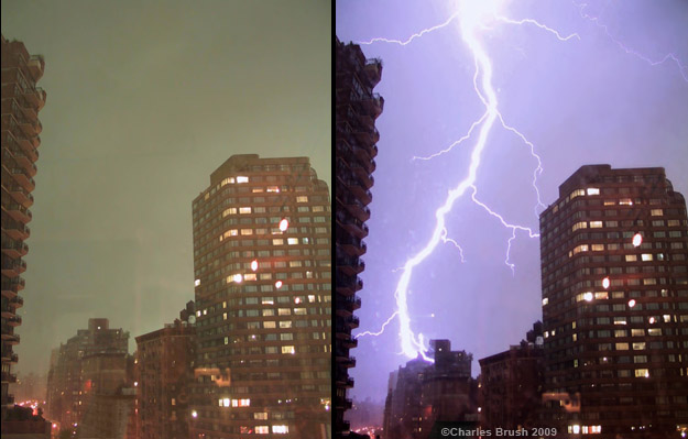 These two photos were taken 4 seconds apart in New York city in 2002